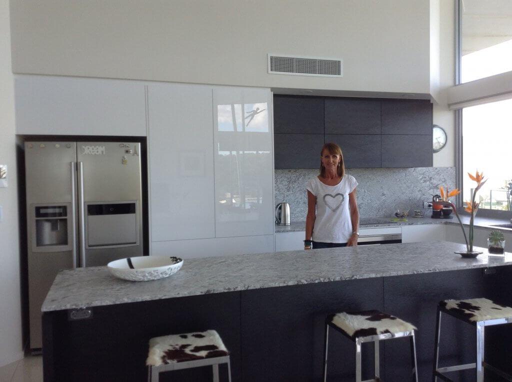 New York Style White and Granite bench top Kitchen Sunshine Coast